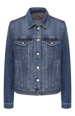 Джинсовые куртки 7 For All Mankind. Цвет: синий