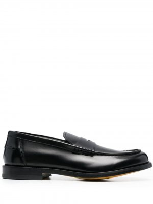 Doucals пенни-лоферы с миндалевидным носком Doucal's. Цвет: черный