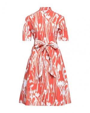 Платье миди SALVATORE FERRAGAMO. Цвет: оранжевый
