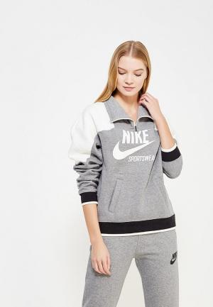 Олимпийка Nike W NSW CREW HZ ARCHIVE. Цвет: серый