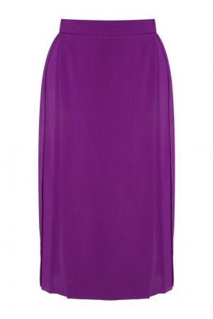 Шелковая юбка Gareth Pugh. Цвет: фиолетовый