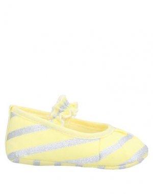 Обувь для новорожденных LòLò. Цвет: желтый