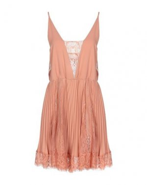 Короткое платье ANIYE BY. Цвет: лососево-розовый