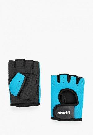 Перчатки для фитнеса Starfit. Цвет: голубой