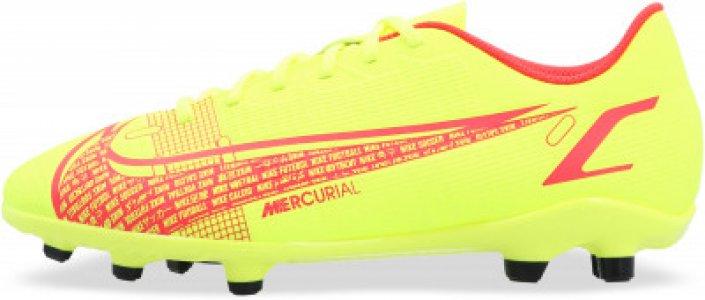 Бутсы для мальчиков Vapor 14 Club Fg/Mg, размер 36.5 Nike. Цвет: желтый
