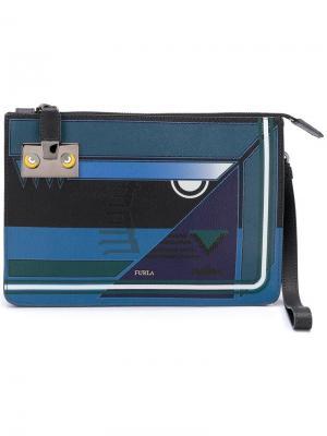 Клатч Atlante Furla. Цвет: синий