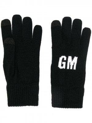 Трикотажные перчатки с логотипом MSGM. Цвет: черный