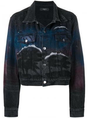 Джинсовая куртка с принтом Amiri