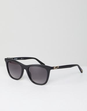 Черные квадратные солнцезащитные очки LOVE Moschino-Серый Moschino