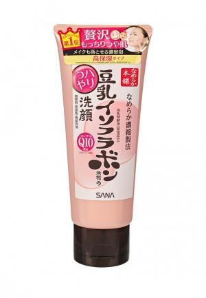 Пенка для умывания Sana и снятия макияжа увлажняющая с изофлавонами сои коэнзимом