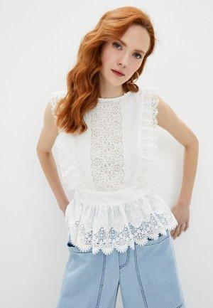 Блуза Francesco Donni. Цвет: белый