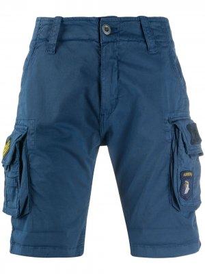 Шорты с боковыми карманами Alpha Industries. Цвет: синий