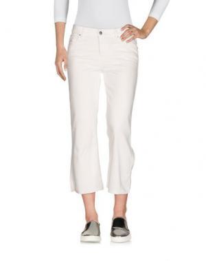 Джинсовые брюки-капри DIESEL. Цвет: белый