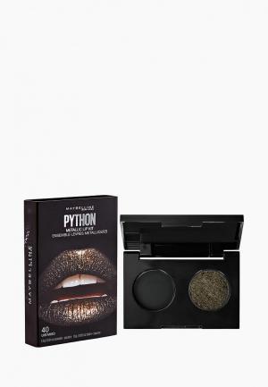 Палетка для губ Maybelline New York Python, оттенок 40, Fatal, 15 гр. Цвет: коричневый