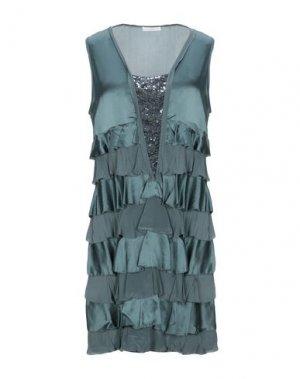 Короткое платье E-GÓ. Цвет: зеленый