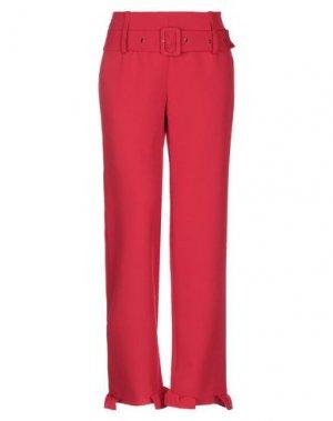 Повседневные брюки MARIUCCIA. Цвет: красный