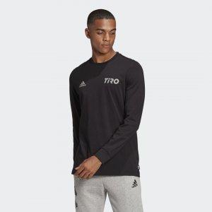 Лонгслив Tiro Performance adidas. Цвет: черный