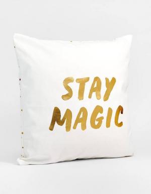 Чехол для декоративной подушки Stay Magic ЖЕНСКАЯ КОЛЛЕКЦИЯ Цвет небеленого полотна 64 Stradivarius