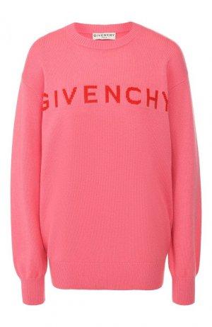Кашемировый пуловер Givenchy. Цвет: розовый