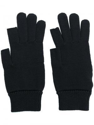 Вязаные шерстяные перчатки Rick Owens. Цвет: чёрный