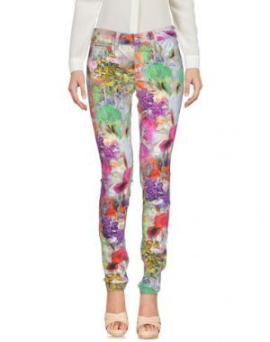 Повседневные брюки FORNARINA. Цвет: пурпурный