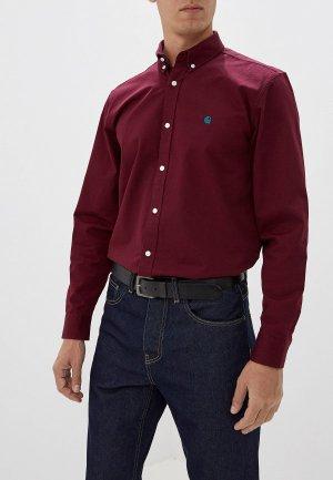 Рубашка Carhartt Madison. Цвет: бордовый