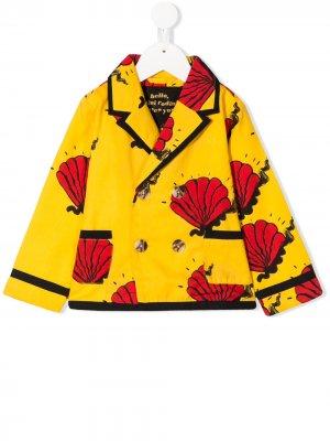 Пиджак с принтом Shell Mini Rodini. Цвет: желтый