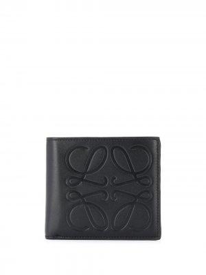 Бумажник с тисненым логотипом Loewe. Цвет: черный