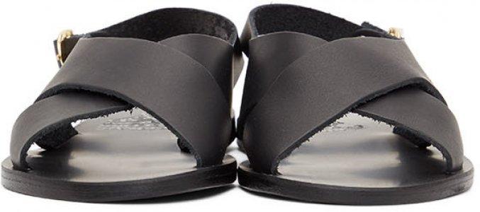 Black Maria Sandals Ancient Greek. Цвет: black