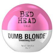 Текстурирующий крем для укладки волос, блеска и защиты от влаги Tigi Bed Head Dumb Blonde Smoothing Stuff (42 г)