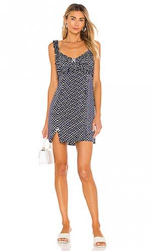Мини платье talia LPA. Цвет: синий
