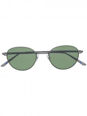 Солнцезащитные очки в круглой оправе Etnia Barcelona. Цвет: серый