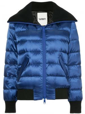 Куртка-бомбер с капюшоном Yves Salomon Army. Цвет: синий