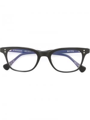 Оптические очки в овальной оправе Dita Eyewear. Цвет: чёрный