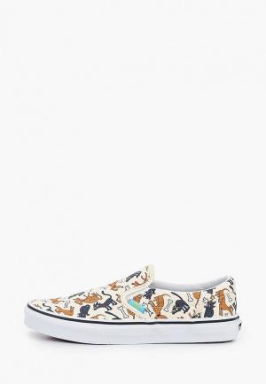 Слипоны Vans JN Classic Slip-On (The Simpsons) Family Pets. Цвет: бежевый