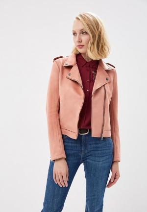 Куртка кожаная Tom Tailor Denim TO793EWACPI1. Цвет: розовый