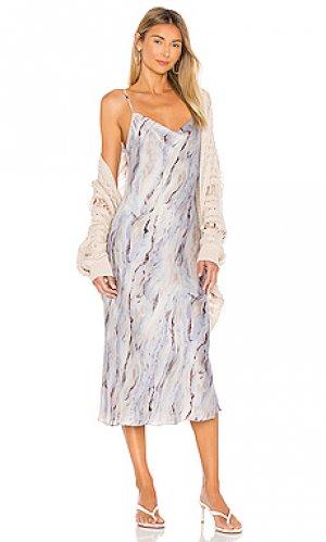 Платье миди revel Amanda Uprichard. Цвет: серый