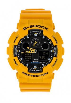 Часы Casio G-SHOCK GA-100A-9A. Цвет: желтый