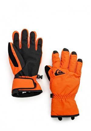 Перчатки Quiksilver. Цвет: оранжевый