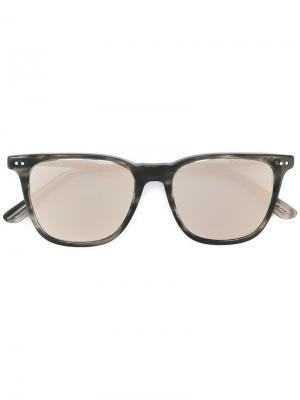 Солнцезащитные очки в квадратной оправе Bottega Veneta Eyewear. Цвет: чёрный