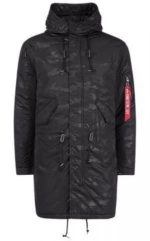 Удлиненная куртка на синтепоне Alpha Industries