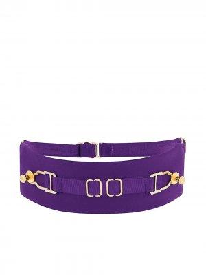 Чокер с пряжками Murmur. Цвет: фиолетовый