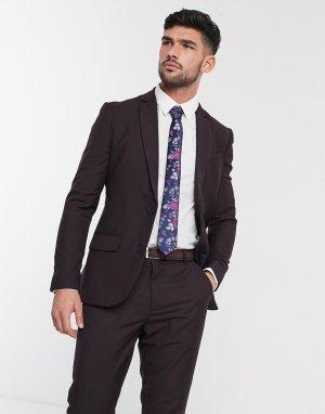 Приталенный пиджак сливового цвета -Фиолетовый цвет New Look