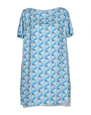 Короткое платье CAMEO. Цвет: лазурный