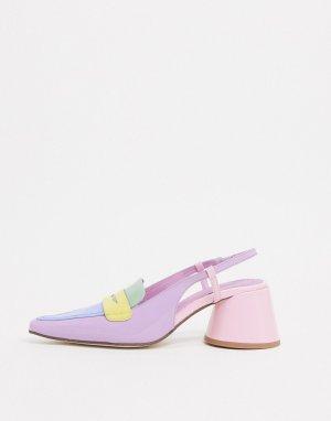 Туфли на каблуке с ремешком через пятку -Мульти Jeffrey Campbell