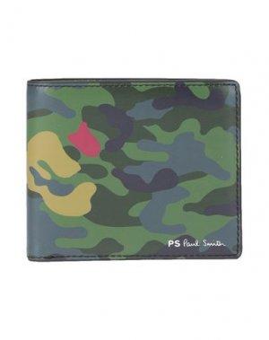 Бумажник PS PAUL SMITH. Цвет: зеленый-милитари