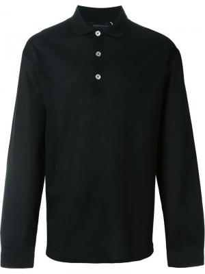 Рубашка-поло Kris Van Assche. Цвет: чёрный