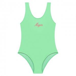 Слитный купальник MSGM kids. Цвет: зелёный