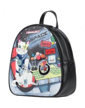 Рюкзаки и сумки на пояс TUA BY BRACCIALINI. Цвет: черный