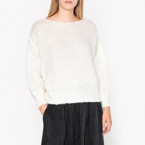 Пуловер с вырезом-лодочкой из плотного трикотажа ZAPITOWN AMERICAN VINTAGE. Цвет: красный,экрю